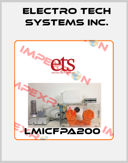ELECTRO TECH SYSTEMS INC.-LMICFPA200  price