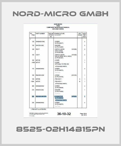 Nord-Micro GmbH-8525-02H14B15PN price