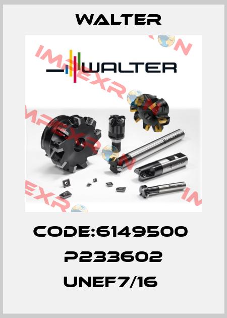 Walter-Code:6149500  P233602 UNEF7/16  price